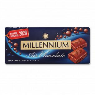 Шоколад молочный Millennium пористый